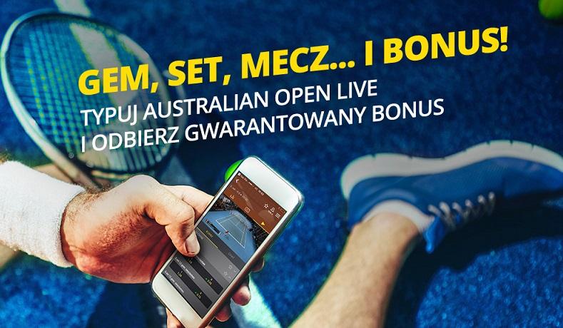 W Fortunie bonus na Australian Open!