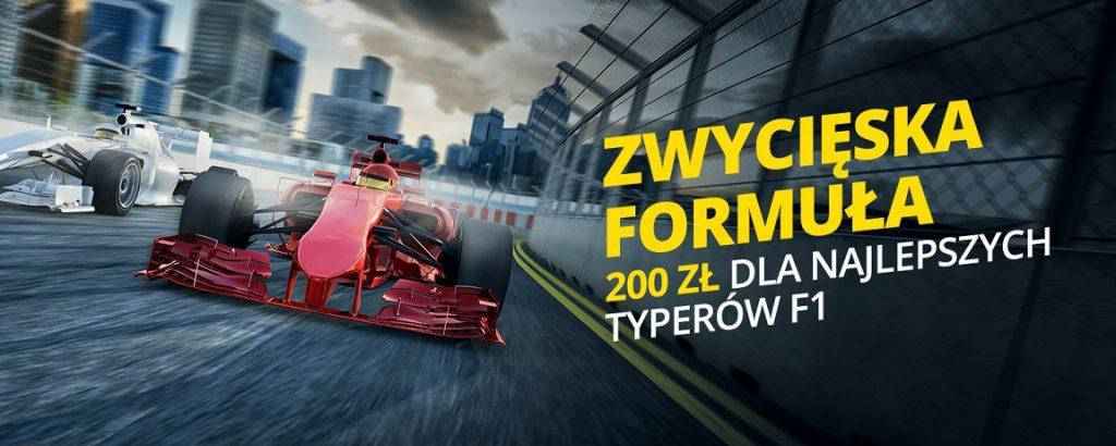 200 PLN dla najlepszych typerów Formuły 1 w Fortunie!